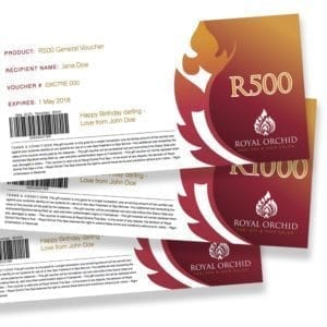 Spa Gift Vouchers Johannesburg - Royal Orchid Thai Spa