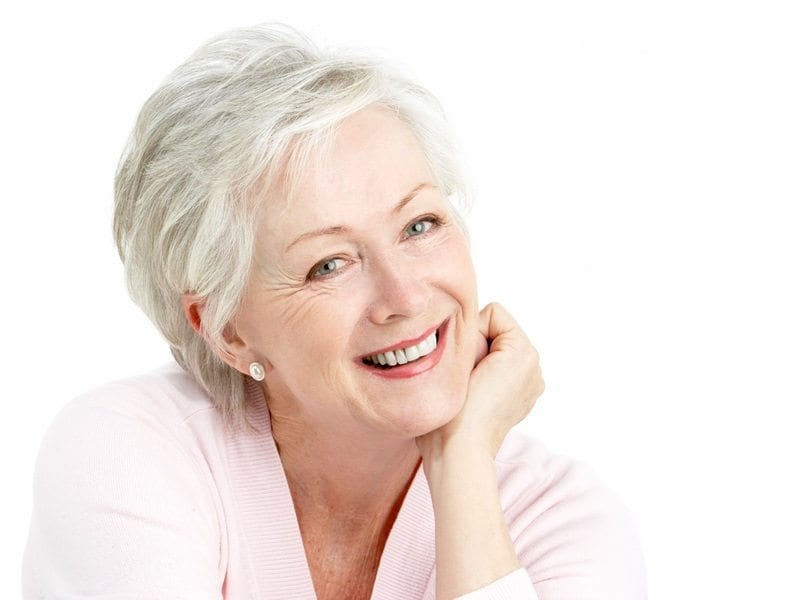 pensioners spa discount - seniors spa deals - glamourous senior woman smiles at camera