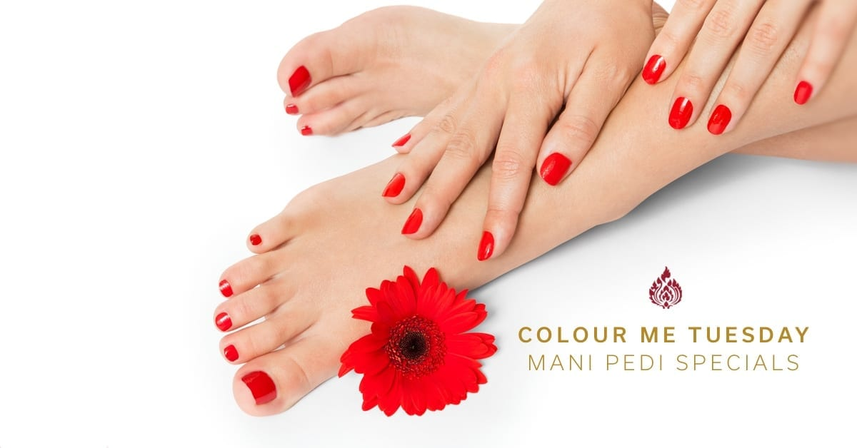Colour Me Tuesday Manicure Pedicure Specials Johannesburg at Royal Orchid Thai Spa & Hair Salon - Colour Me Tuesday