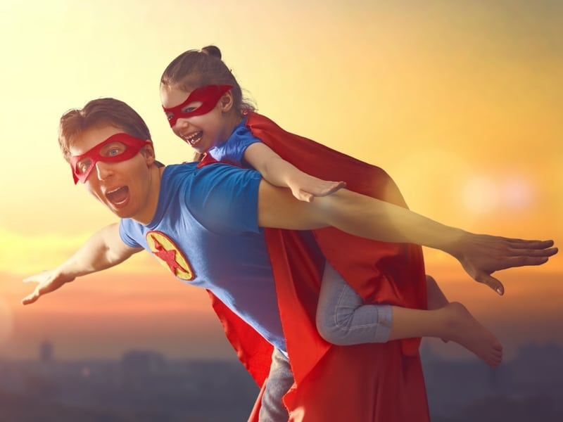 Father's Day Spa Packages Gauteng - Super Dad and his Daughter in super hero costumes