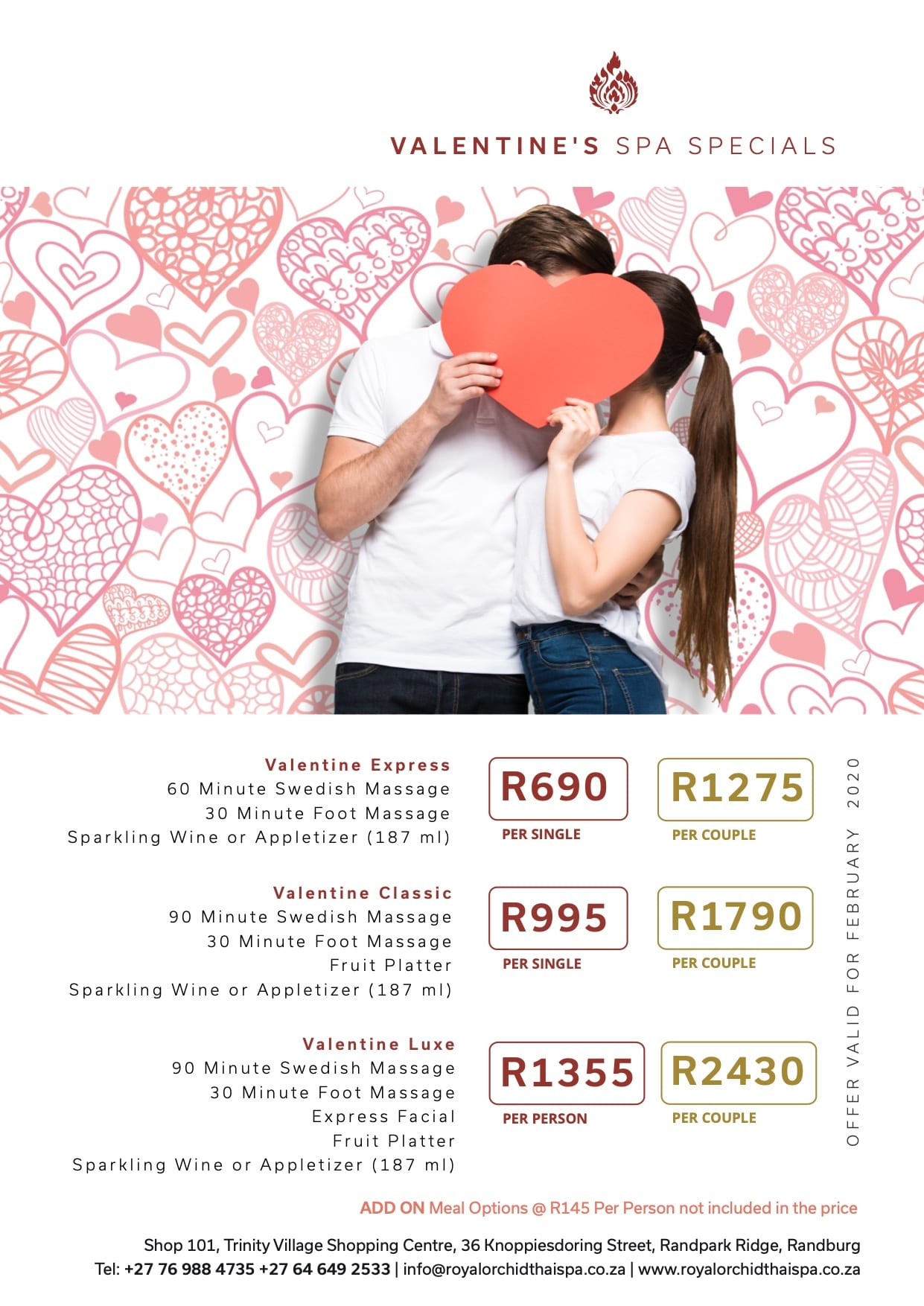 Valentines Spa Specials Johannesburg - Royal Orchid Thai Spa